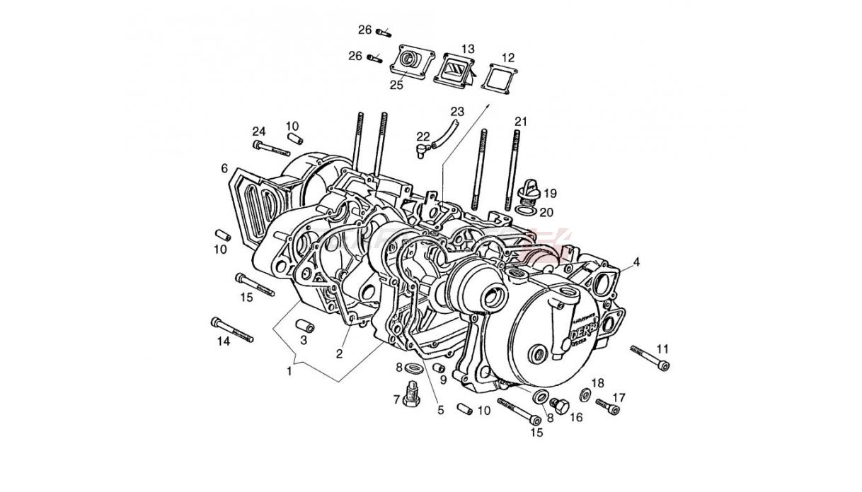 Ersatzteile für Motorgehäuse Derbi EBE/EBS